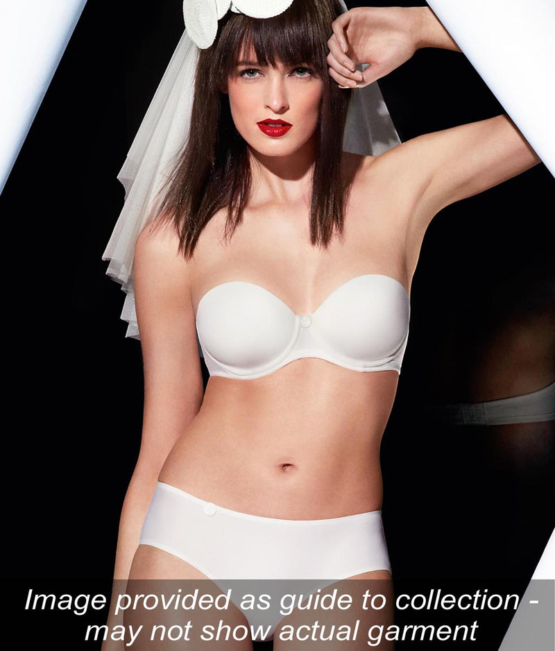 L'Aventure 'Tom' (White) Moulded Multiway Full Cup Bra BC - Sandra Dee - Collection Publicity Shot