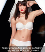 L'Aventure 'Tom' (White) Padded Plunge Bra (Heart Shape) - Sandra Dee - Collection Publicity Shot