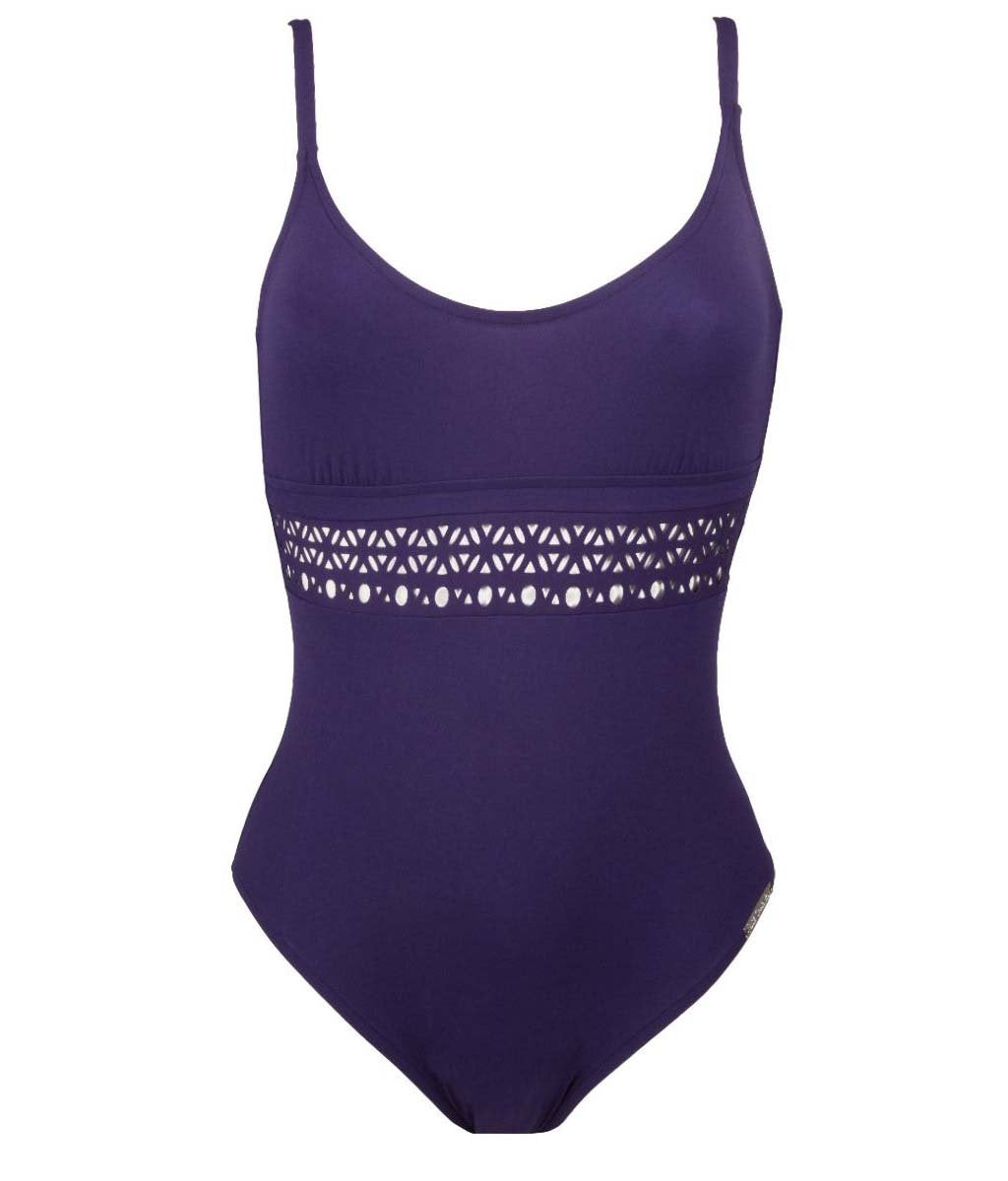 Lise Charmel 'Ajourage Couture' (Ajourage Royal) Unpadded Swimsuit - Sandra Dee - Product Shot - Front