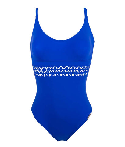 Lise Charmel 'Ajourage Couture' (Etrave Bleu) Unpadded Swimsuit - Sandra Dee - Product Shot - Front