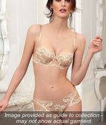 Lise Charmel 'Dressing Floral' (Amber Nacre) Full Cup Bra - Sandra Dee - Collection Publicity Shot