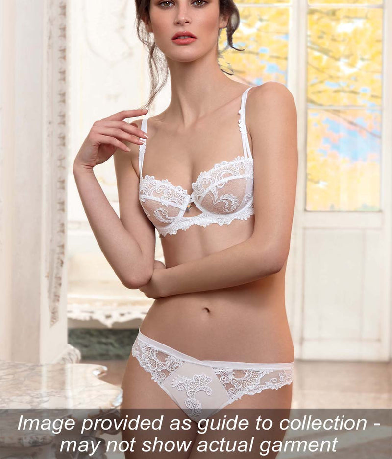 Lise Charmel 'Dressing Floral' (White) Strapless Bra - Sandra Dee - Collection Publicity Shot