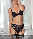 Lise Charmel 'Dressing Floral' (Noir) Suspender Belt - Sandra Dee - Collection Publicity Shot