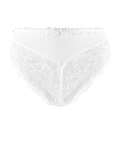 Lise Charmel 'Soir de Venise' (Blanc/White) Full Brief/Retro Brief - Sandra Dee - Product Shot - Front