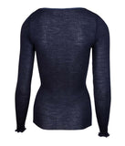 Lise Charmel 'Soir de Venise' (Bleu Venise) Long Sleeved Top - Sandra Dee - Product Shot - Rear