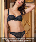 Lise Charmel 'Soir de Venise' (Bleu Venise) Seduction Brief - Sandra Dee - Collection Publicity Shot