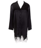 Lise Charmel 'Splendeur Soie' (Splendeur Noir) Night Shirt - Sandra Dee - Product Shot - Front