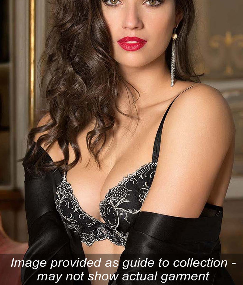 Lise Charmel 'Splendeur Soie' (Splendeur Noir) Padded Plunge Bra - Sandra Dee - Collection Publicity Shot