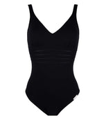 Lise Charmel 'Sporty Plage' (Black) Unpadded Swimsuit - Sandra Dee - Product Shot - Front