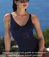 Lise Charmel 'Sporty Plage' (Nuit Cobalt) Underwired Full Cup Bikini Bra - Sandra Dee - Collection Publicity Shot