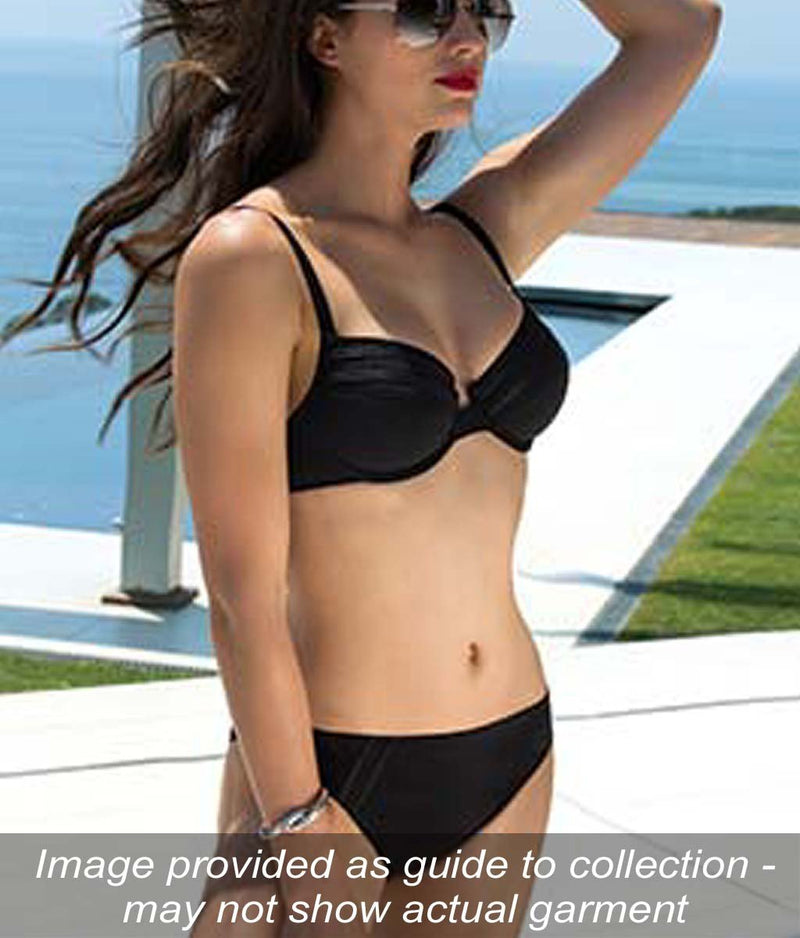 Lise Charmel 'Sporty Plage' (Black) Underwired Full Cup Bikini Bra - Sandra Dee - Collection Publicity Shot