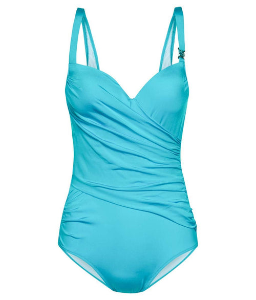 Louis Féraud 'Beach' (Turquoise) Padded Swimsuit - Sandra Dee - Product Shot - Front