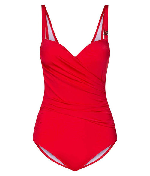 Louis Féraud 'Beach' (Cherry) Padded Swimsuit - Sandra Dee - Product Shot - Front