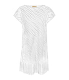 Lidea 'Cover Up' (White) Poncho (Tunic) - Sandra Dee - Product Shot - Front