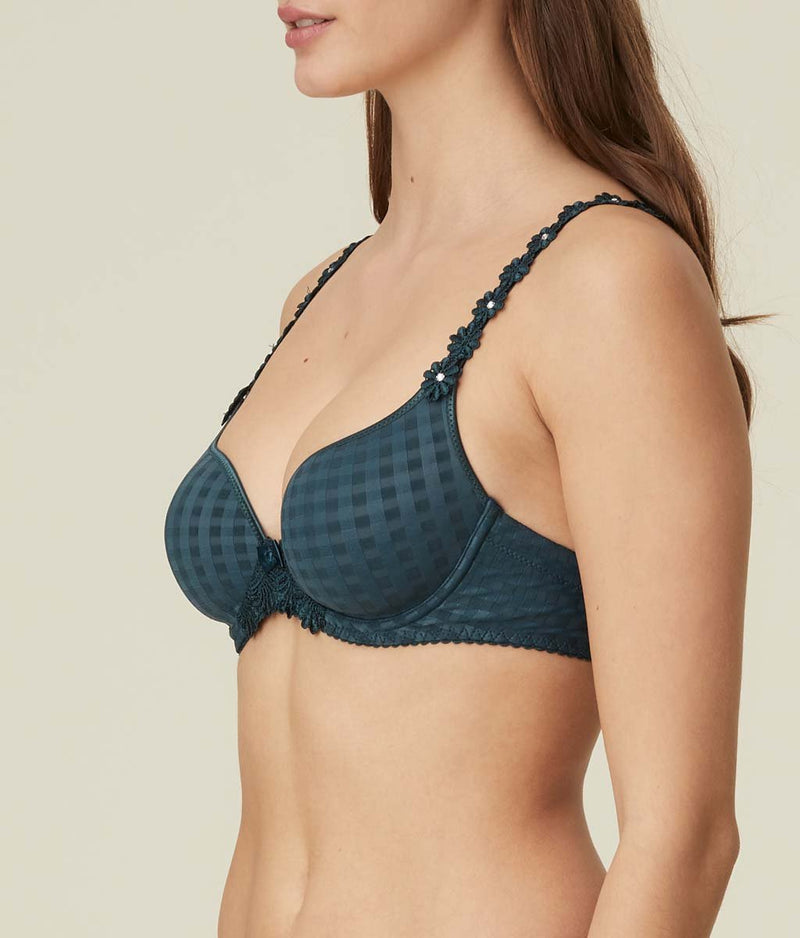 Marie Jo 'Avero' (Empire Green) Padded Plunge Multiway Bra - Sandra Dee - Model Shot - Side