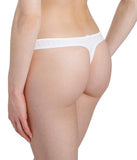 Marie Jo 'Avero' (White) G String - Sandra Dee - Model Shot - Rear