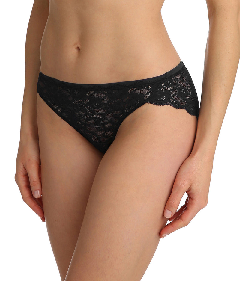 Marie Jo 'Color Studio' Lace (Black) Rio Brief - Sandra Dee - Model Shot - Side