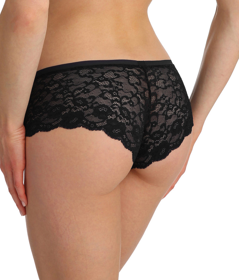 Marie Jo 'Color Studio' Lace (Black) Hotpants - Sandra Dee - Model Shot - Rear