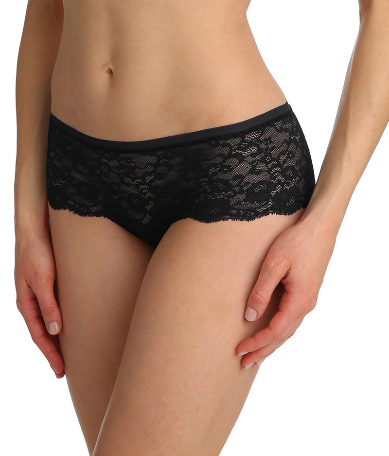 Marie Jo 'Color Studio' Lace (Black) Hotpants - Sandra Dee - Model Shot - Side