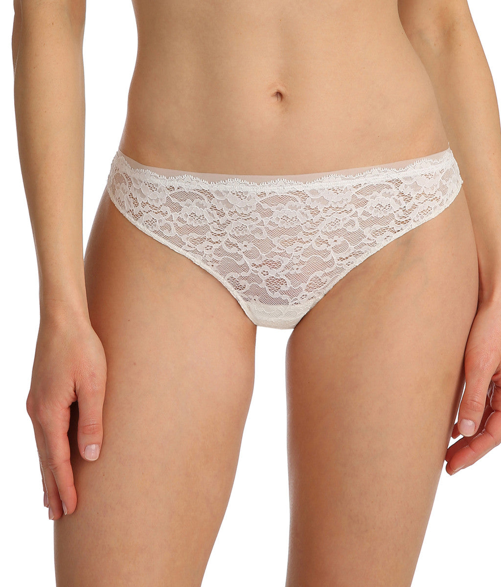 Marie Jo 'Color Studio' Lace (Natural) Thong - Sandra Dee - Model Shot - Front