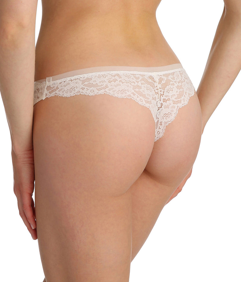 Marie Jo 'Color Studio' Lace (Natural) Thong - Sandra Dee - Model Shot - Rear