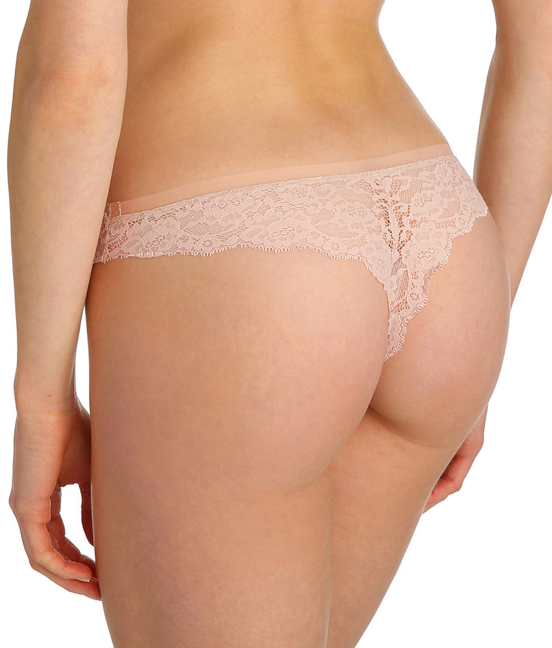 Marie Jo 'Color Studio' Lace (Patine) Thong - Sandra Dee - Model Shot - Rear