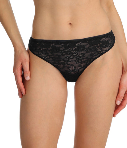 Marie Jo 'Color Studio' Lace (Black) Thong - Sandra Dee - Model Shot - Front