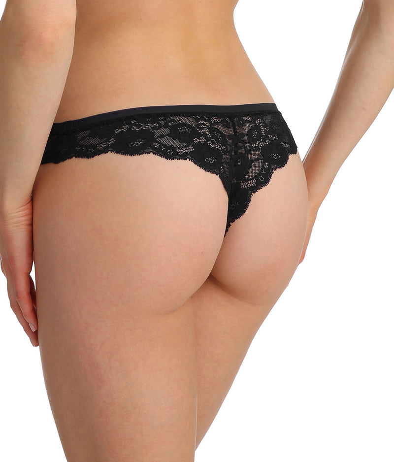 Marie Jo 'Color Studio' Lace (Black) Thong - Sandra Dee - Model Shot - Rear