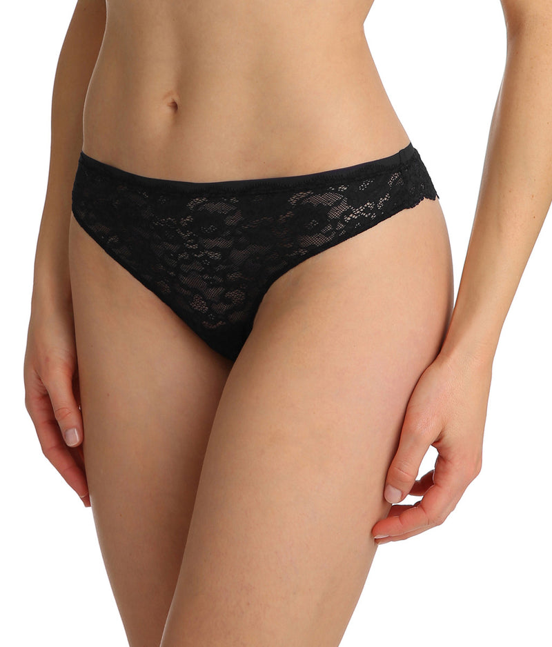 Marie Jo 'Color Studio' Lace (Black) Thong - Sandra Dee - Model Shot - Side