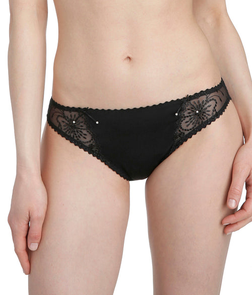 Marie Jo 'Jane' (Black) Rio Brief - Sandra Dee - Model Shot - Front