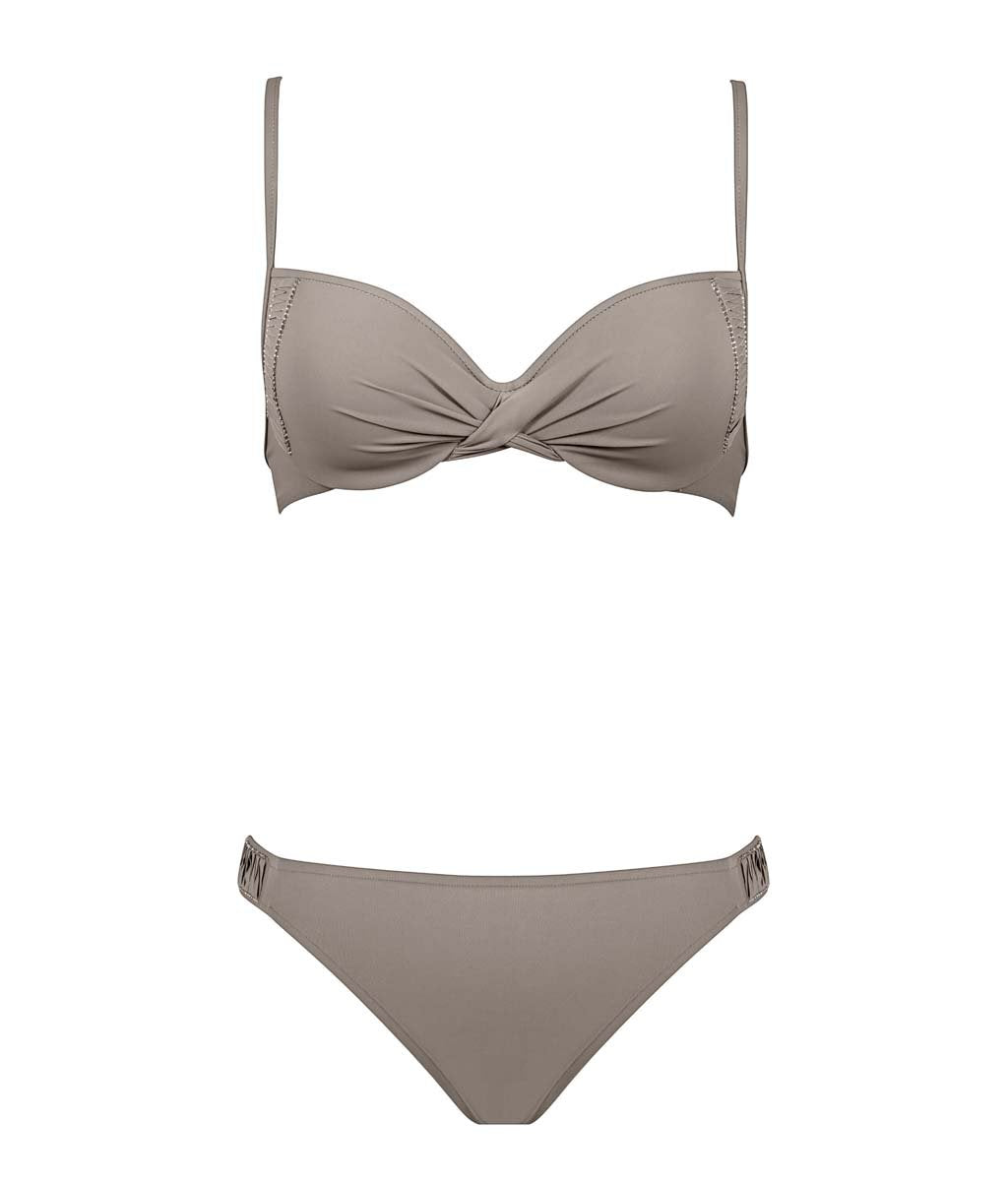 Maryan Mehlhorn 'Allure' (Taupe Cristal) Underwired Bikini - Sandra Dee - Product Shot - Front