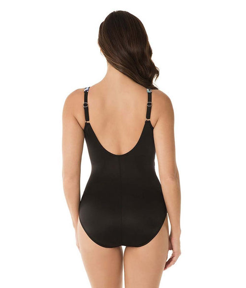 Miraclesuit 'Madagascar' (Multi-Colour) Padded Swimsuit - Sandra Dee - Model Shot - Rear