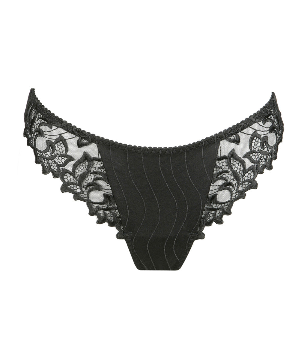 PrimaDonna 'Deauville' (Black) Thong - Sandra Dee - Product Shot - Front