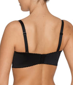 PrimaDonna 'Divine' (Black) Strapless Bra CD - Sandra Dee - Model Shot - Rear