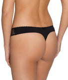 PrimaDonna 'Divine' (Black) Thong - Sandra Dee - Model Shot - Rear