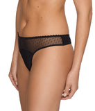 PrimaDonna 'Divine' (Black) Thong - Sandra Dee - Model Shot - Side