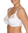 PrimaDonna 'Madison' (White) Full Cup Bra BCDE - Sandra Dee - Model Shot - Side