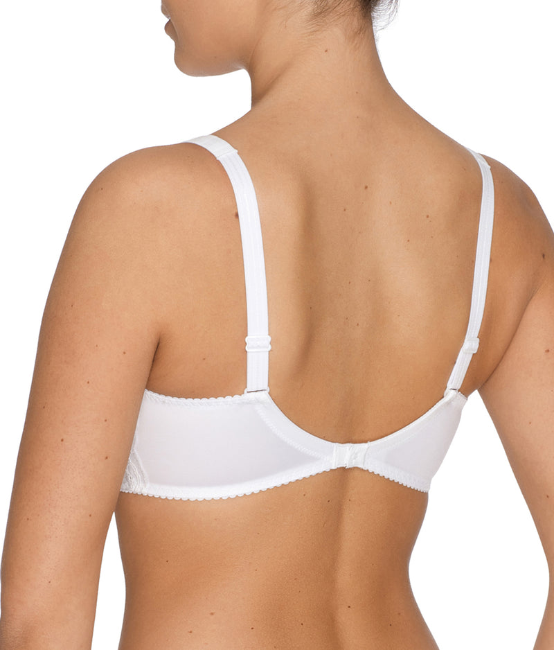 PrimaDonna 'Madison' (White) Full Cup Bra (Smooth Cup) FGH - Sandra Dee - Model Shot - Rear