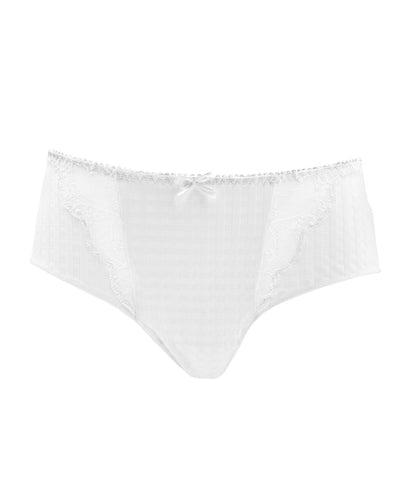 PrimaDonna 'Madison' (White) Hotpants - Sandra Dee - Product Shot - Front