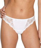 PrimaDonna 'Madison' (White) Thong - Sandra Dee - Model Shot - Front