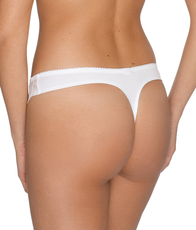 PrimaDonna 'Madison' (White) Thong - Sandra Dee - Model Shot - Rear