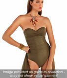 Roidal 'Ceylan' (Khaki) Underwired Bandeau Swimsuit - Sandra Dee - Collection Publicity Shot