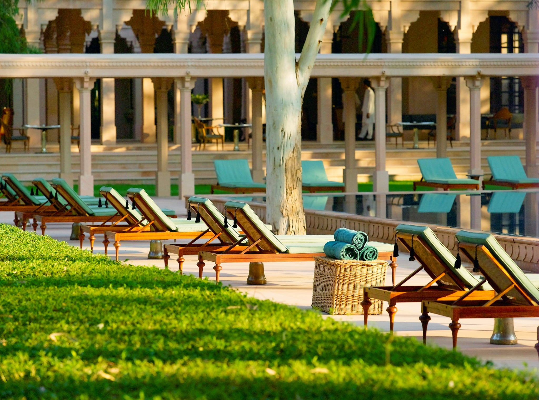 Malavara's Top Luxury Ayurveda Retreats - Amanbagh Rajasthan Deck Chairs