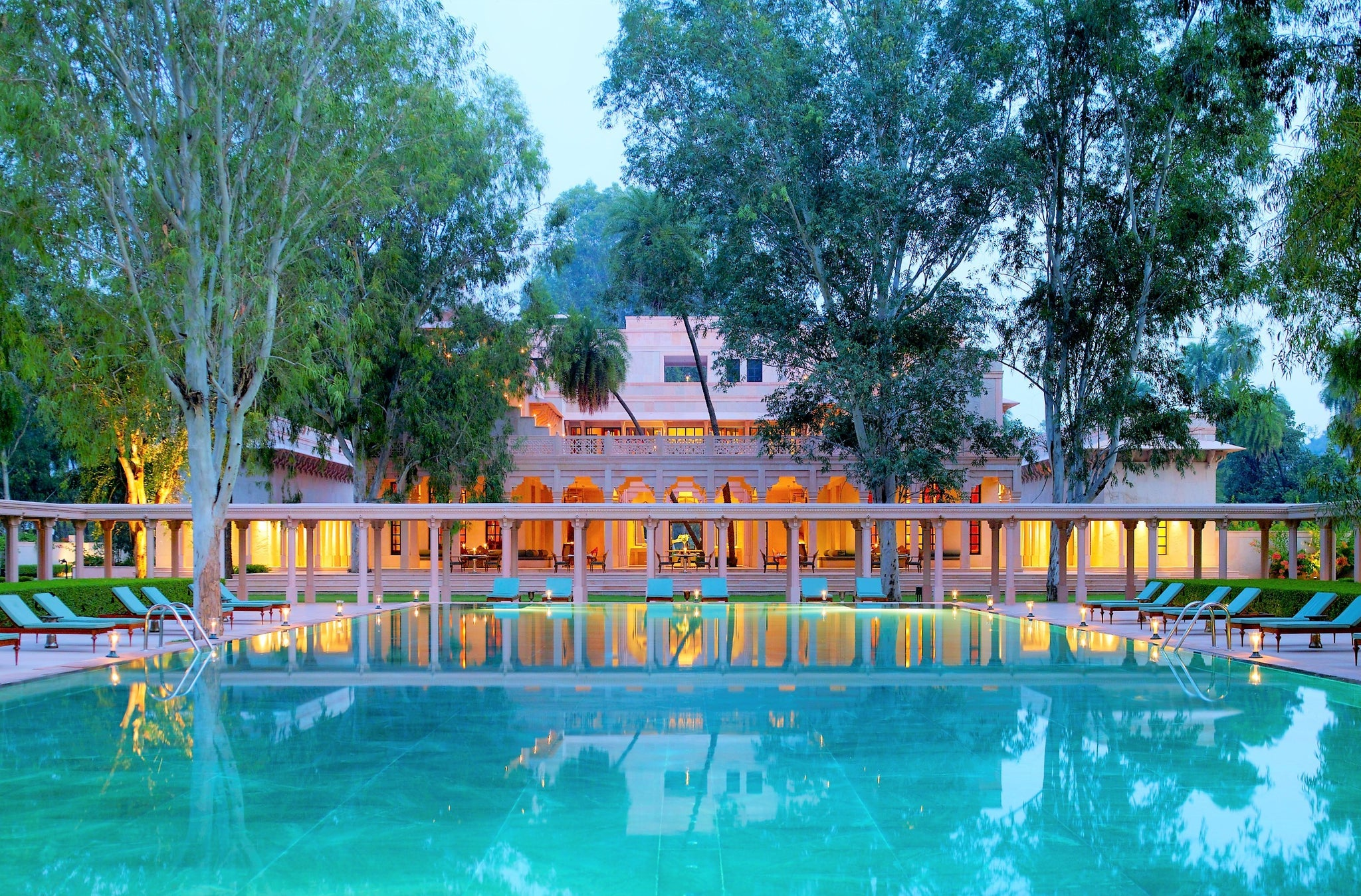 Malavara's Top Luxury Ayurveda Retreats - Amanbagh Rajasthan Swimming Pool