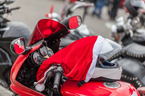 Christmas day on a motorbike