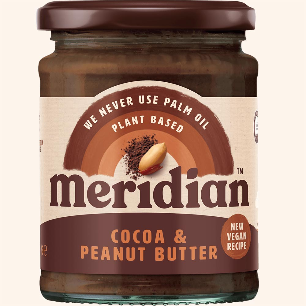 An image of Meridian Cocoa & Peanut Nut Butter 280g Jar