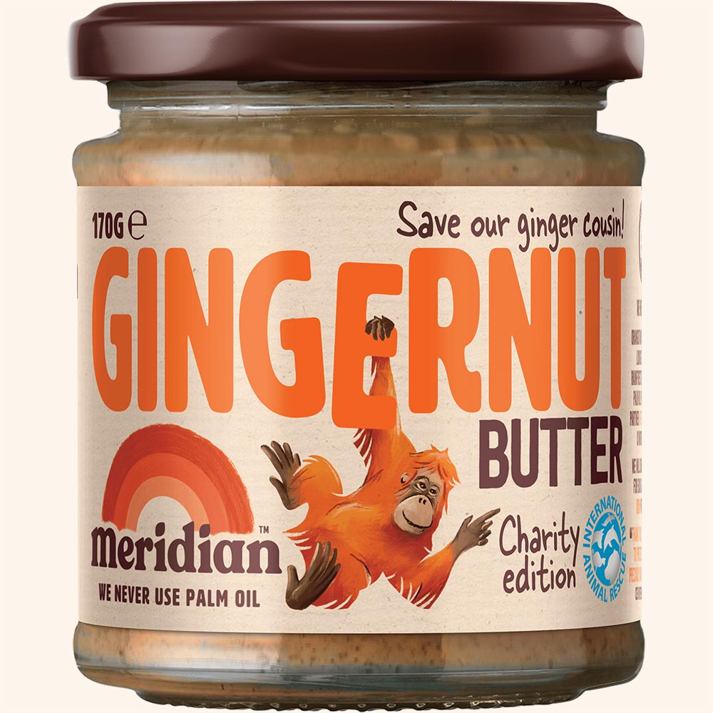 An image of Meridian Gingernut Butter 170g Jar - New Charity Edition