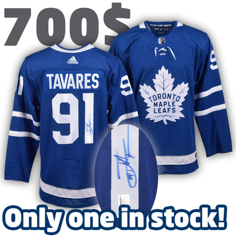 99d4adbf05c JOHN TAVARES Maple Leafs Pro replica autographed ADIDAS jersey (#3677A –  Classic Authentic