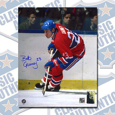 cheap for discount 32c31 7d051 BOB GAINEY Montreal Canadiens autographed 8x10 photo (#2651)
