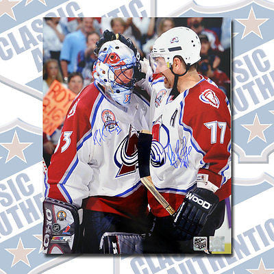 buy online fec33 ff545 PATRICK ROY & RAY BOURQUE Colorado Avalanche dual signed 16x20 photo (#1007)